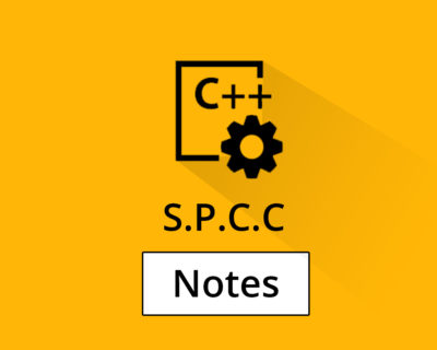 SPCC Notes