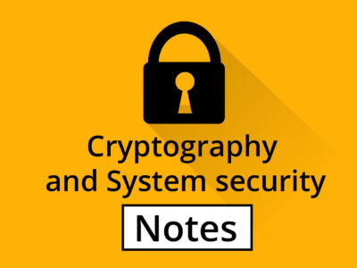 Cryptography and Security System Notes