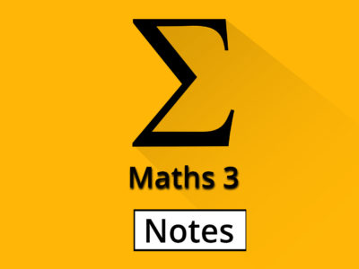 Engineering Maths-3 Notes