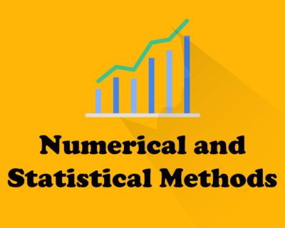 Numerical and Statistical Methods